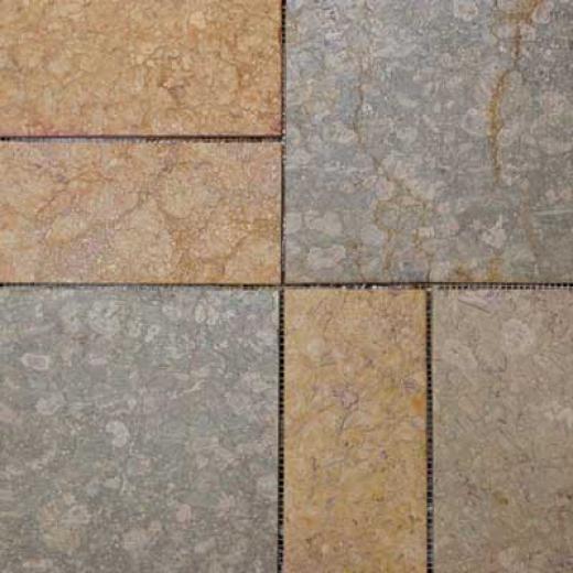 Alfagres Tumbled Marble Puzzle Stone 16 X 16 Royal Veteado Tile & Stone