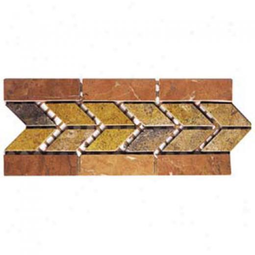 Alfagres Tumbled Marble Troya Series Troya Rojo Dorado Th306