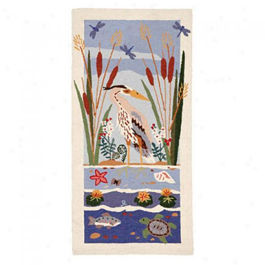 American Cottage Rugs Blue Heron Blue Heron White Area Rugs