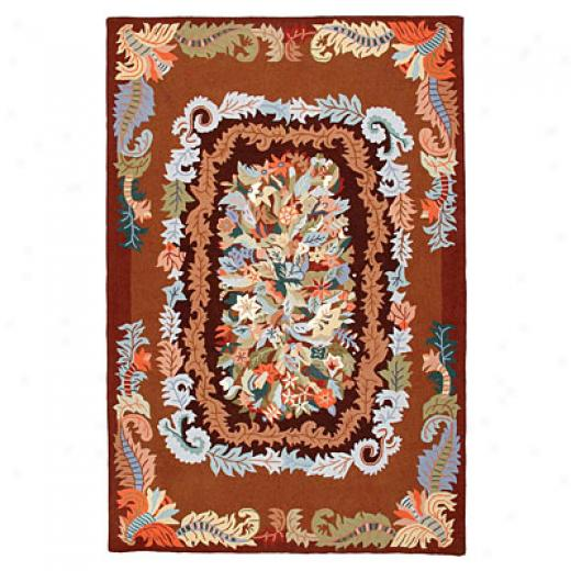 American Cottage Rugs Bouquet 6 X 9 Bouquet Coffee Area Rugs