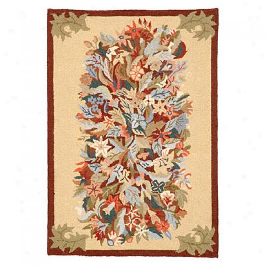American Cottage Rugs Bouquet 6 X 9 Bouquet Bisque Area Rugs