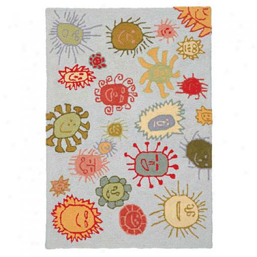 American Cottage Rugs Children 2 X 2 You Are My Sunshine Blu Area Rugs