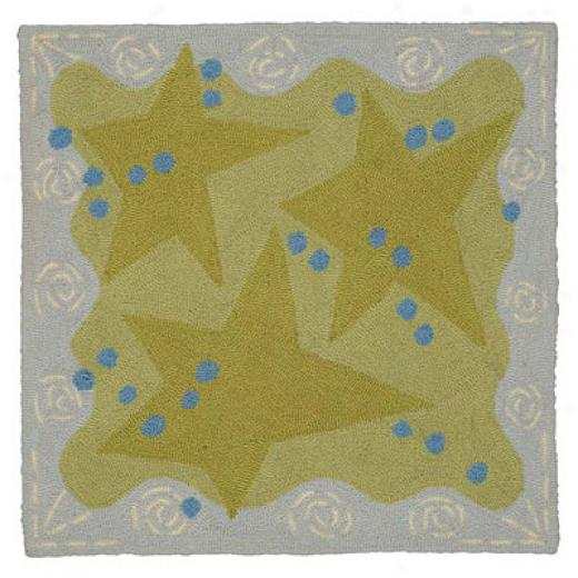 American Cottage Rugs Children 2 X 3 Stars Green Area Rugs