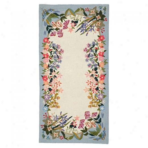 American Cottage Rugs Floral Garden 2 X 5 Floral Garden Runner Area Rugs