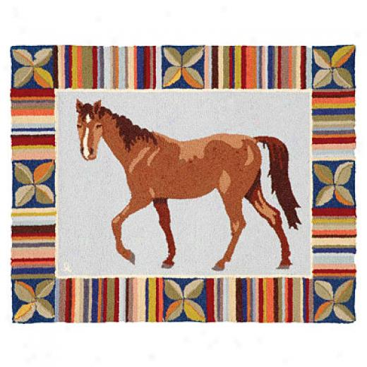 American Cottage Rugs Horse Horse Blue Area Rugs