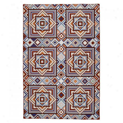 American Cottage Rugs Tunnel 3 X 9 Tunnel Saddle Blue Area Rugs