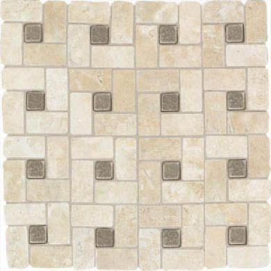 American Olean Artistic Elements Stoneworks Pinwheel 1 X 2 (12x12) Azteca/bronze Dots Mw01/tu0512pwms1p