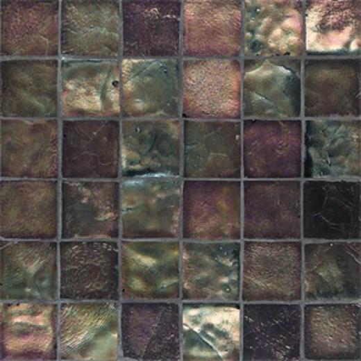 American Olean Candalara Glass Mosaic Black Jewel Tile & Stone