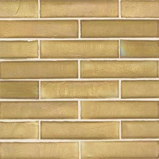 American Olean Candalara Glass Brick Mosaic Cinammon Spice Tile & Stone