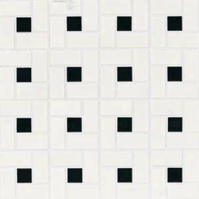 American Olean Chloe Pinwheel Mosaic Gloss Black Tile  &Stone