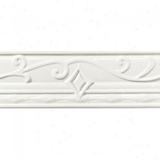 American Olean Designer Elegance Accents Ice White Portofino Tile & Stone