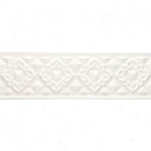 American Olean Designerr Elegance Accents Ice White Floral Tile & Stone
