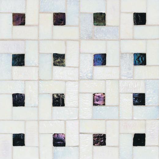 American Olean Solare Glass Pinwheel Frost/lava Rock Tile & Stone