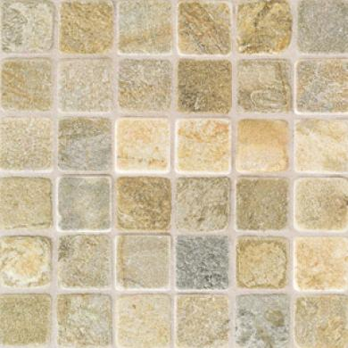 American Olean Tumbled Slate Mosaic 2 X 2 China Gold Tile & Stone