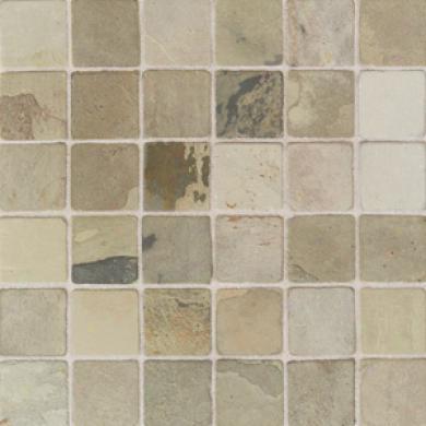 American Olean Tumbled Slate Mosaic 2 X 2 India Autumn Tile & Stone
