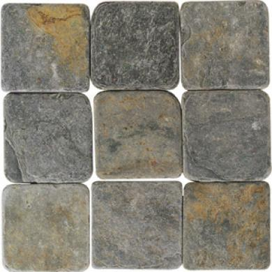 American Olean Tumbled Slate 4 X 4 China Multicolor Tile & Stone