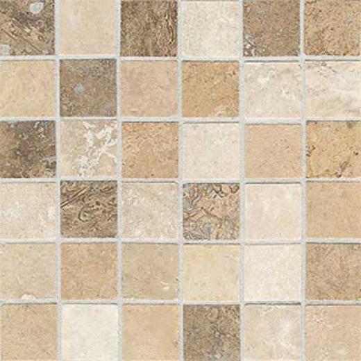 American Olean Tumbled Stone Mosaic Azteca Blend Tile & Stone