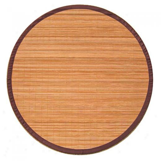 Anji Mountain Bamboo Rug, Co Villager Bamboo Rug 7 Round Natural Area Rugs