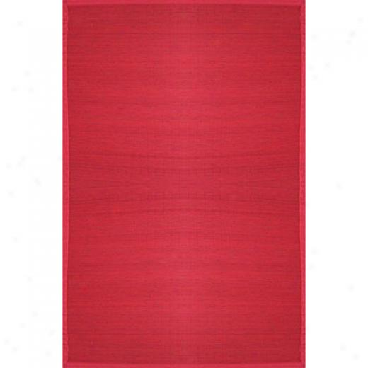 Anji Mountain Bamboo Rug, Co Villager Bamboo Rug 2 X 3 Crimson Area Rugs