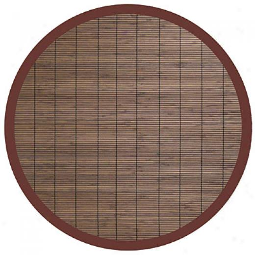 Anji Mountain Bamboo Rug, Co Villager Bamboo Rug 7 Round Coffee Area Rugs