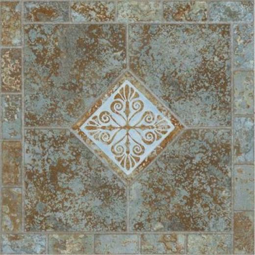 Armstrong Afton - Dry Back Slate Mosaic Verde Vinyl Flooring