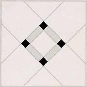Armstrong Chesapeake Collection Self-adhering Lattice Lane Black White Urethane 21400