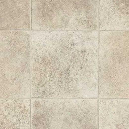 Armstrong Cushionstep Best - Limestone Paver Cream Vinyl Flooring