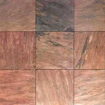 Asc Slat Sequoia Sunset Slate 16 X 16 Ckastal Redwood Tile & Stone