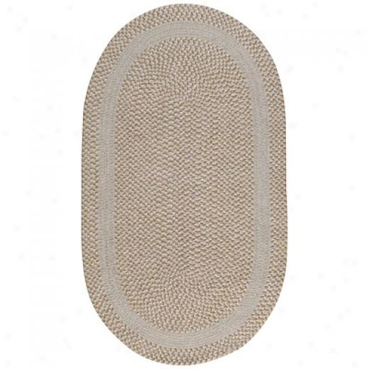 Capel Rugs Basketweave 11x11 Oval Parchment Area Rugs
