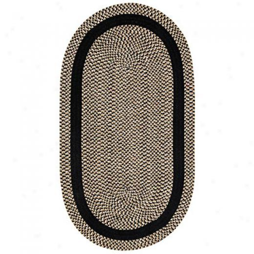 Capel Rugs Basketweave 7 X 9 Oval Black Area Rugs