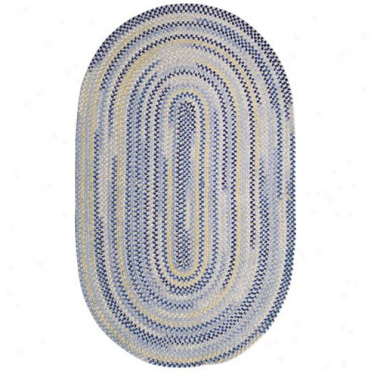 Capel Rugs Beachcomber 8x11 Oval Ocean Blue Area Rugs
