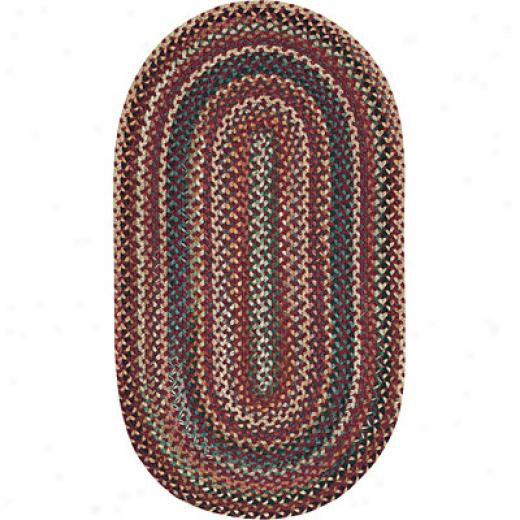 Capdl Rugs Bear Creek 3 Ft Round Heritage Red Area Rugs