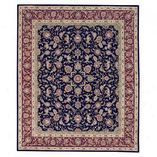 Capel Rugs Burma Silk- Kashan 10x13 Red Area Rugs