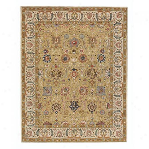 Capel Rugs Burma Silk- Meshed 4x5 Butterscotch Area Rugs