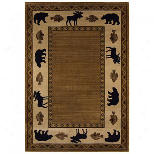 Capel Rugs Cabin Retreat 8x10 Praline Area Rugs