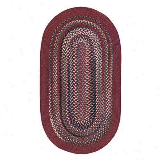 Capel Rugs Cape Henry 9x9 Round Wine Area Rugs