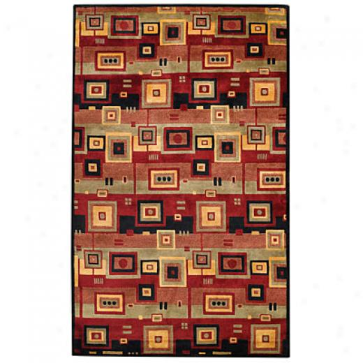 Capel Rugs Crystalle - Circut 10x14 Redblack Area Rugs