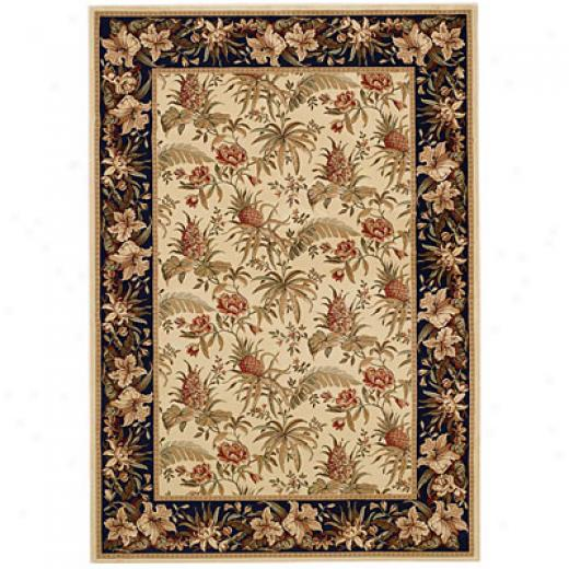 Capel Rugs Estates - Palm Grove 5x8 Ivory Area Rugs