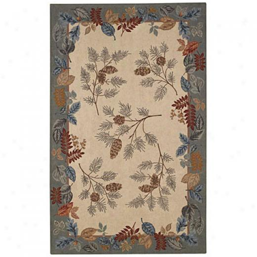 Capel Rugs Fall Foliaye 5 X 8 Eggshell Area Rugs