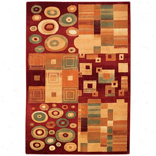 Capel Rugs Festivale - Kaleidescope 8 X 11 Darkred Area Rugs