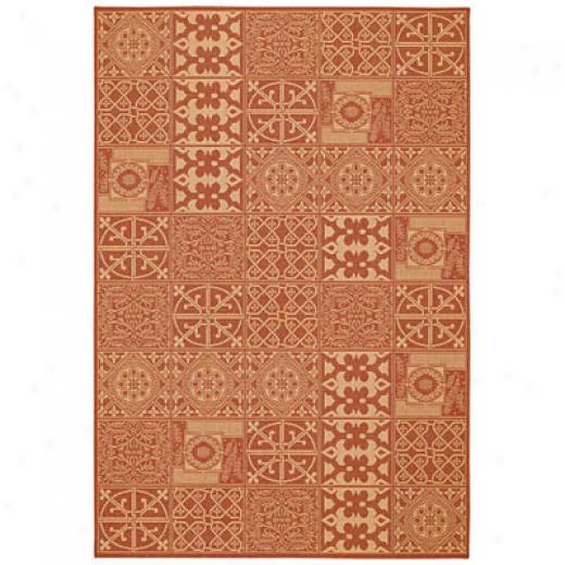 Capel Rugs Finesse - Elements 5 X 8 Terracotta Area Rugs