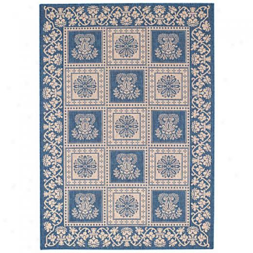 Capel Rugs Finesse - Stencil Square 3 X 5 Bleu Area Rugs