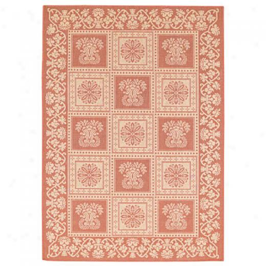 Capel Rugs Finesse - Stencil Square 5 X 8 Terracotta Area Rugs