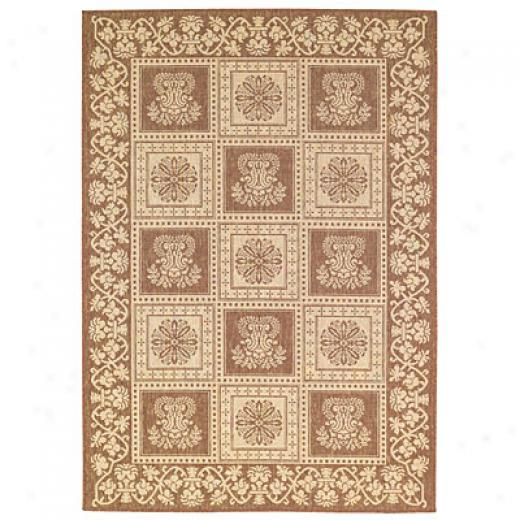 Capel Rugs Finesse - Stencil Square 5 X 8 Coffee Area Ruge