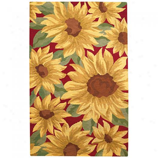 Capel Rugs Garden Delights 4 X 6 Sunflowers Are Rugs