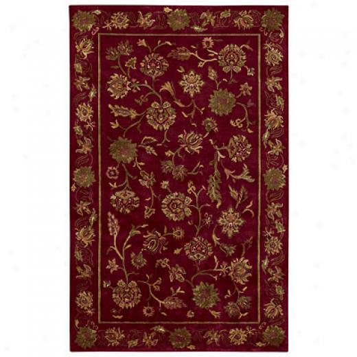 Capel Rugs Lotus 4 X 5 Crimson Area Rugs