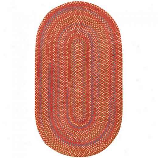 Capel Rugs Medley 1x2 Oval Salsa Area Rugs