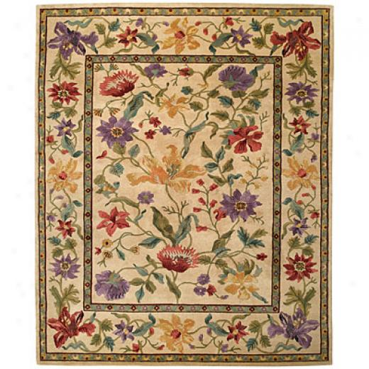 Capel Rugs Panama Orchids 4x5 Cream Area Rugs