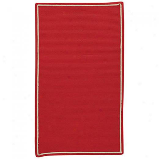 Capel Rugs Pinstripe 3 X 5 Oval Trje Red Area Ruhs