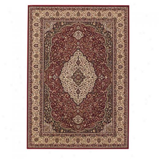 Capel Rugs Satin - Kashan 4 X 6 Redcream Area Rugs